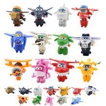 4/5/8/12 шт./компл. супер Fly Hero мини самолеты крыло игрушки деформации трансформация реактивная анимация фигурку ABS игрушки для детей