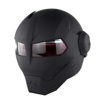Soman 515 Iron Man Motorcycle Helmet Flip Up Verspa Ironman Skull capacetes Flip up Robot Casco DOT Approval