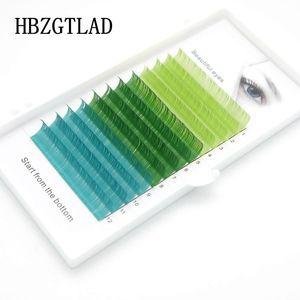 Image 5 - HBZGTLADใหม่C/D 0.07/0.1 มม.8 15 มม.ขนตาปลอมสีฟ้า + สีเขียว + สีม่วง + สีเทาขนตาแต่ละสีขนตาFauxขนตา