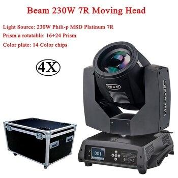 цена на 4Pcs/Lot 230W Beam Moving Head Sharpy lyre Beam 230W 7R Moving Head Light Touch Screen Beam 230W Beam 7R Stage Disco DJ Lights