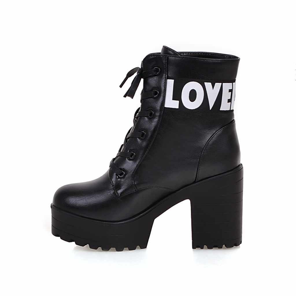 Plataforma de salto alto botas de couro macio botas de salto alto botas de inverno outono botas de pele quente tamanho grande 2018 novo