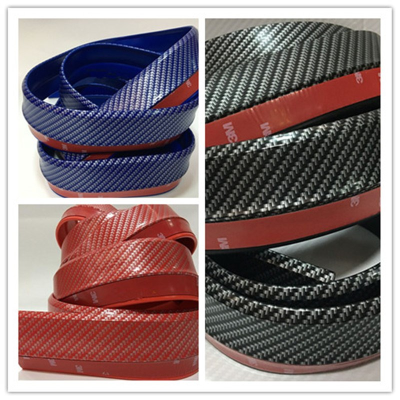 2.5M/Roll Car Carbon Fiber pattern Front Bumper Lip Splitter Protector Body Spoiler Valance Chin useful car accessories