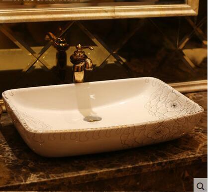 Увеличить площадь Цзиндэчжэнь керамика бассейна Туалет бассейна Раковина на сцене Платина пион