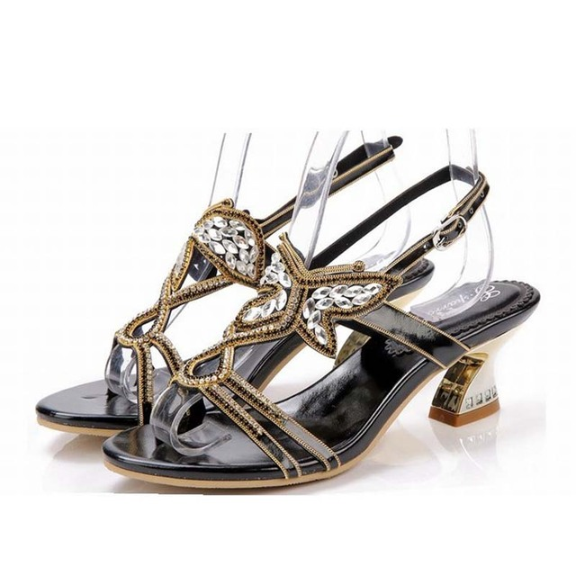 5f49fbb82d557e new 2016 Rhinestone Butterfly Sandals Thick Heels Summer Shoes Woman Cut  Out High Heel Sexy Women Sandal Sweet Gladiator Sandals