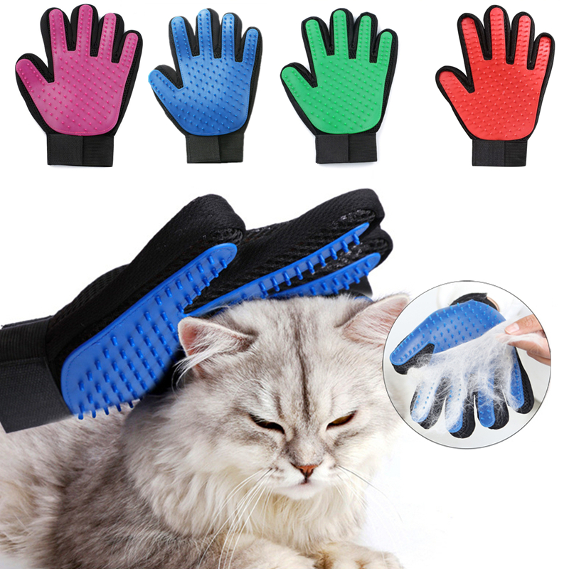 Pet Hair Brush Glove Cat Dog Massage Grooming Brush Comb Pet Bath Cleaning Brush Glove For Dog Cat Pet Supplies