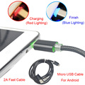 BrankBass LED Micro USB Cables 2A 1M Metal Braided Cord Data Sync Wire Charger For Samsung Galaxy Android phones/Powerbank