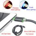 Brankbass led micro usb cables 2a 1 m de metal trenzado cable data sync cable cargador para samsung galaxy teléfonos android/powerbank