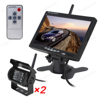Car Parking Monitor 7 Inch High quailty HD 2.4 GHz wireless Transmitter Receiver Hot sell With IR LED Rear View Camera