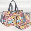 Free shipping!!! 6Pcs Fashion Multi Function Baby Bag Baby Diaper Bags Mummy Mama Nappy Bags Tote Women Handbag