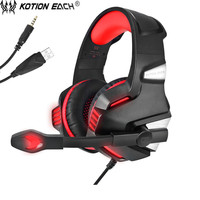 KOTION EACH G7500 Gaming Headset Headphone With Led Microphone Bass Headphones For New Xbox One PS4