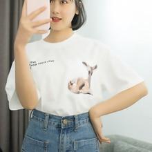 Women t-shirt Casual Animal print tshirt cotton summer 2019 camiseta mujer Big version of super fire shirt New arrive fashion