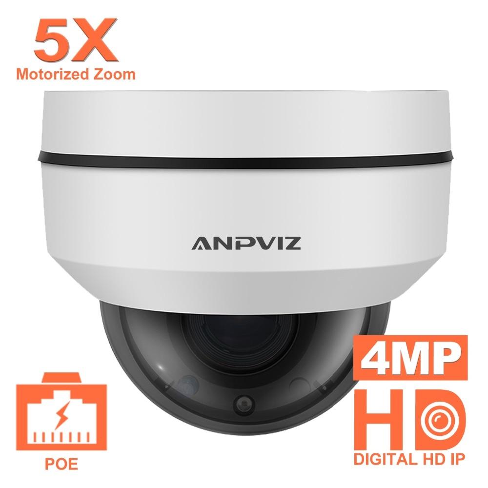 Anpviz 2,5 дюймов мини-купол PTZ Камера Onvif 4MP Открытый водонепроницаемый моторизованный 5X зум 2,7-13,5 мм видеонаблюдения PoE IP Камера