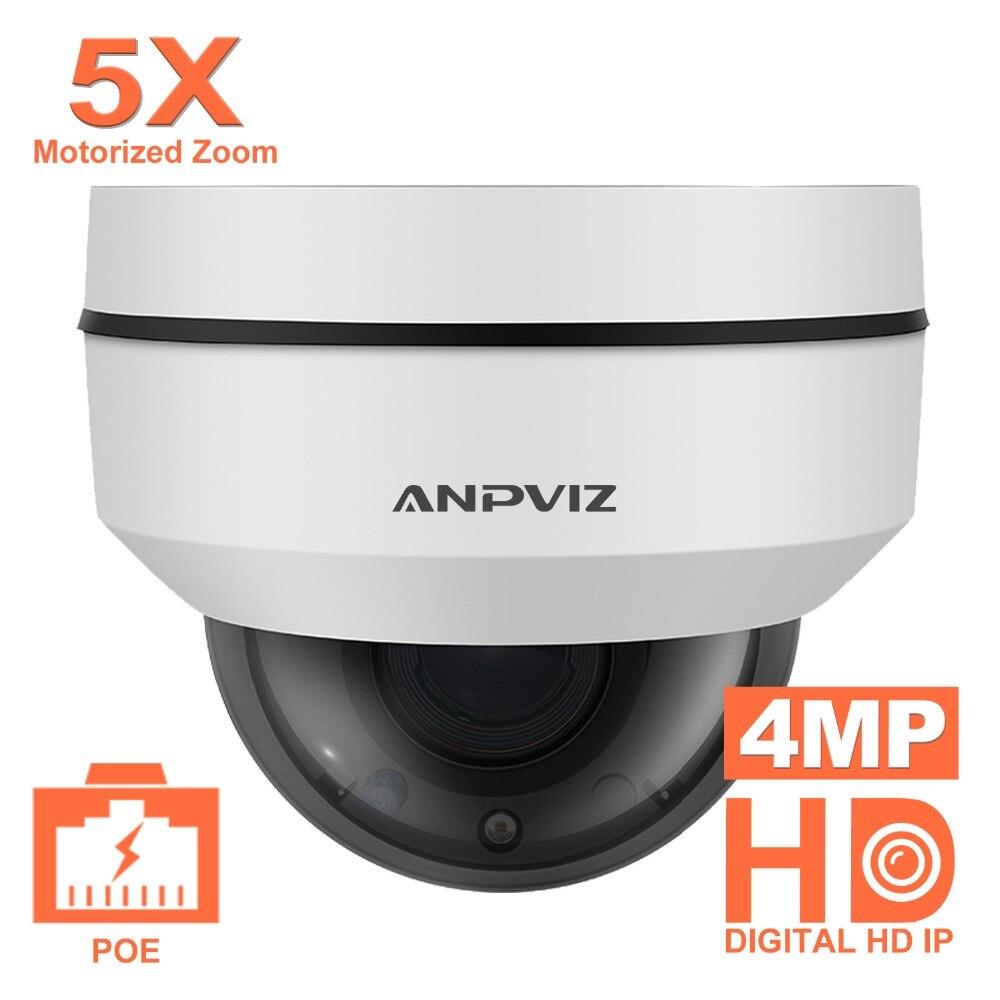 Anpviz 2.5 pouce Mini Dôme PTZ Caméra Onvif 4MP extérieure Imperméable à L'eau Motorisé 5X Zoom 2.7-13.5mm vidéo Surveillance PoE IP Caméra
