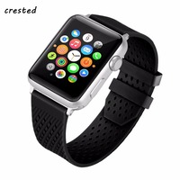 CRESTED Sport Band For Apple Watch 3 42mm 38mm Silicone Iwatch 3 2 1 Wrist Watch