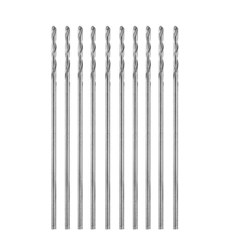 10Pcs/Set Multifunction Tiny Micro HSS 0.6mm Straight Shank Twist Drilling Bit -Y103 10pcs set multifunction tiny micro hss 2 5mm straight shank twist drilling bit