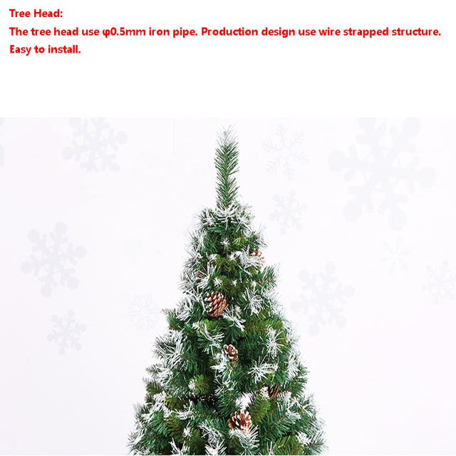 Christmas Tree with Snowflake and Pinecone