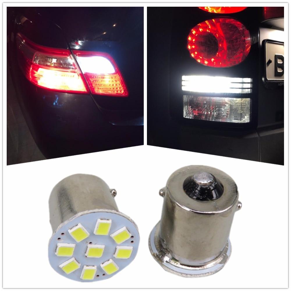 WLJH 100PCS 24V Led 1156 BA15S P21W 1157 3528 LED Brake Reverse Backup Bulb Turn Signal