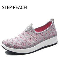 STEPREACH Brand Shoes Woman Flats Women Tenis Feminino Chaussures Femme Sapato Feminino Platform Slip On Casual