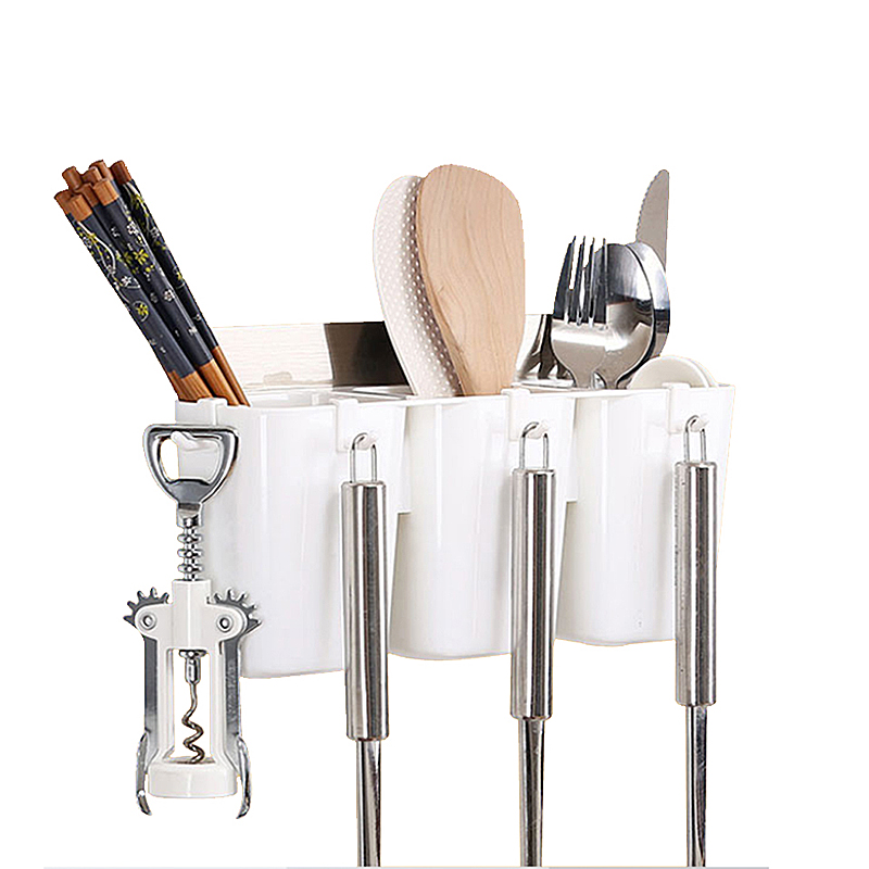 Kitchen Tools Tableware Storage Racks Organizer Non-trace Stick Wall Mounted Holders Home Organization Accessories Supplies Case