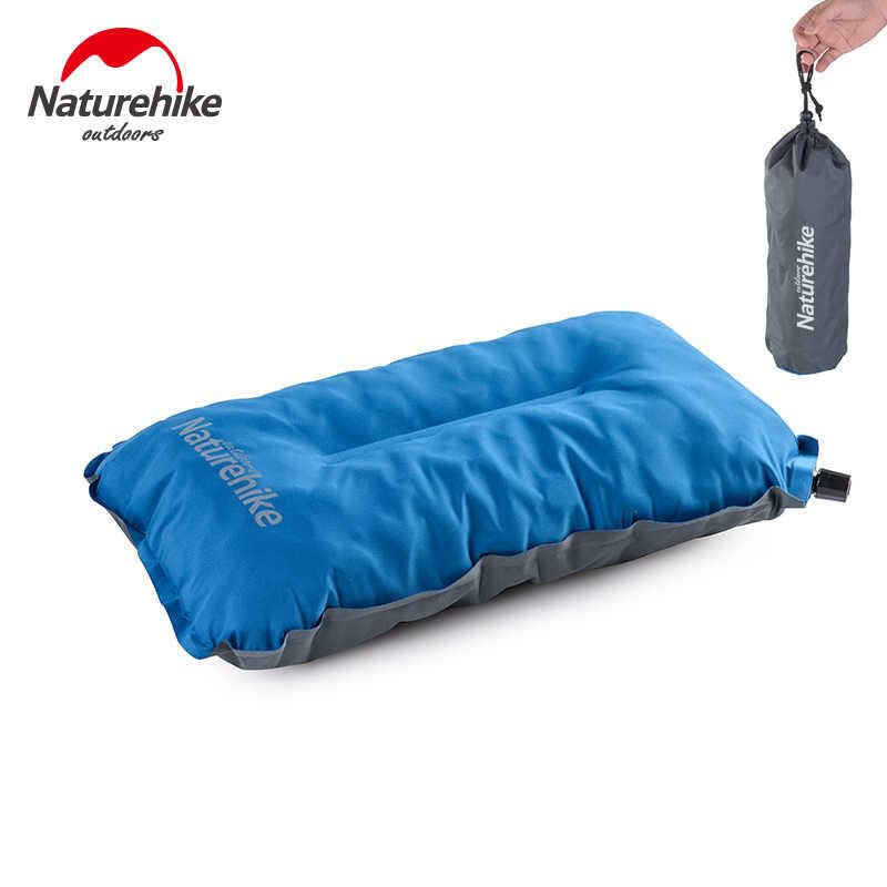 Naturehike Outdoor Opvouwbare Slapen Kussen Automatische Opblaasbaar Kussen Reizen Camping Draagbare Comfort Kussen Vliegtuig Lunchpauze
