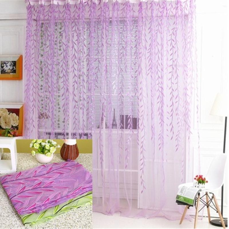 wicker window curtain voile drape sheer valances home supply diy two color cortinas rideaux pour le salon