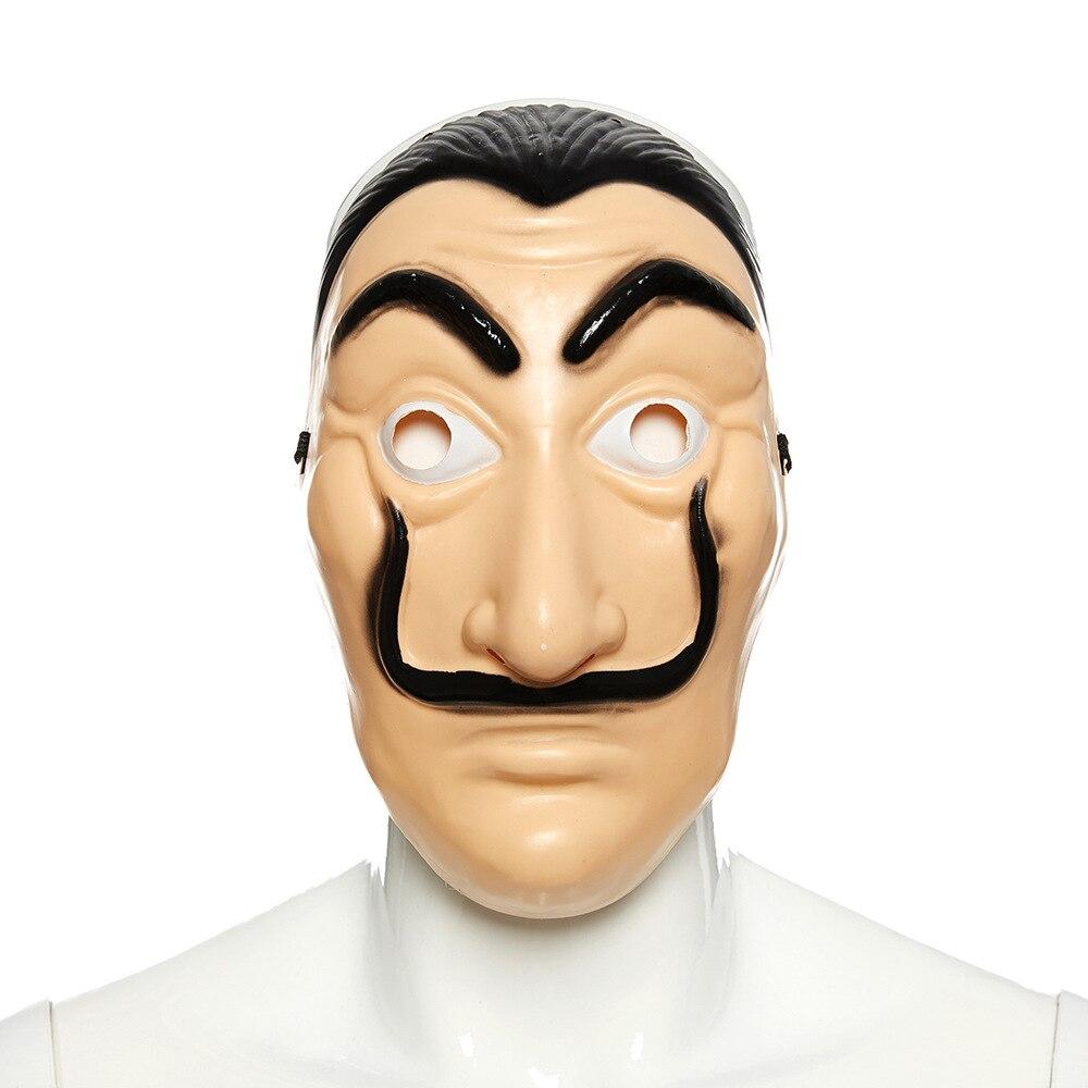 Wholesale 40 PCS La Casa De Papel Mask Salvador Dali Plastic Face Funny Mask Costumes Cosplay