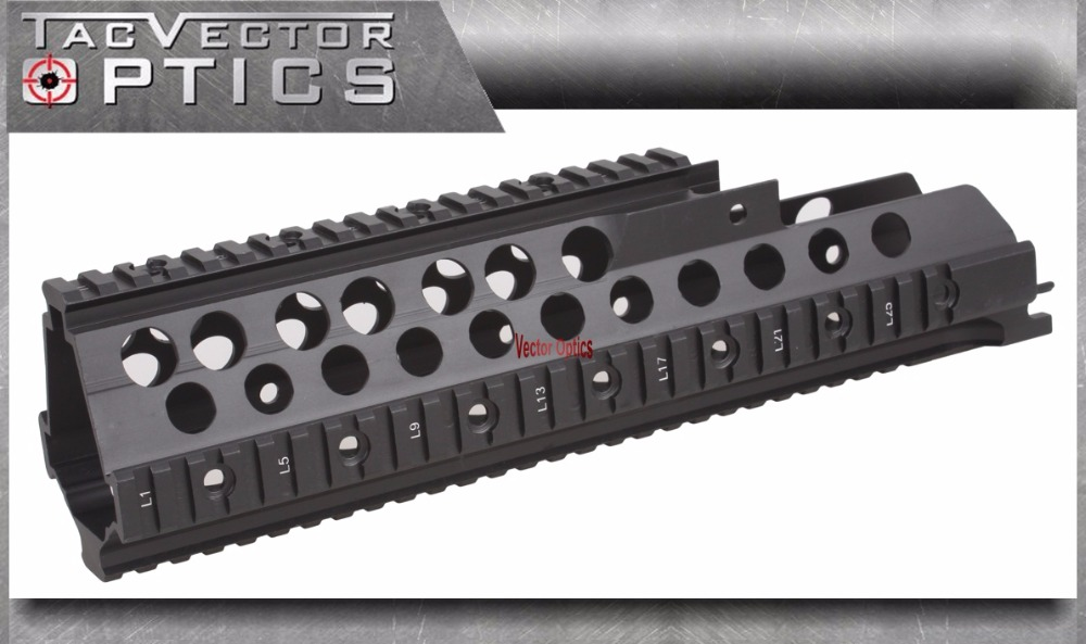 Vector Opitcs Tactical G36 Handguard Picatinny Quad Rails Mount for H&K HK Heckler Koch Fit Laser Flashlight Riflescope Sight ak 47 tactical quad rail picatinny handguard system cnc aluminum full length tactical for ak rifles 26cm hunting gun accessories