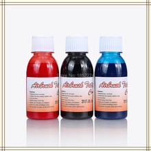 3 Bottles Golden Phoenix Temporary Airbrush Tattoo Ink For Body Art Paint Makeup Free Shipping