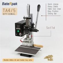 TA5/4 BateRpak Stamping Machine,leather bronzing/Creasing machine,hot foil stamping machine,leather embossor Max 10cm holder
