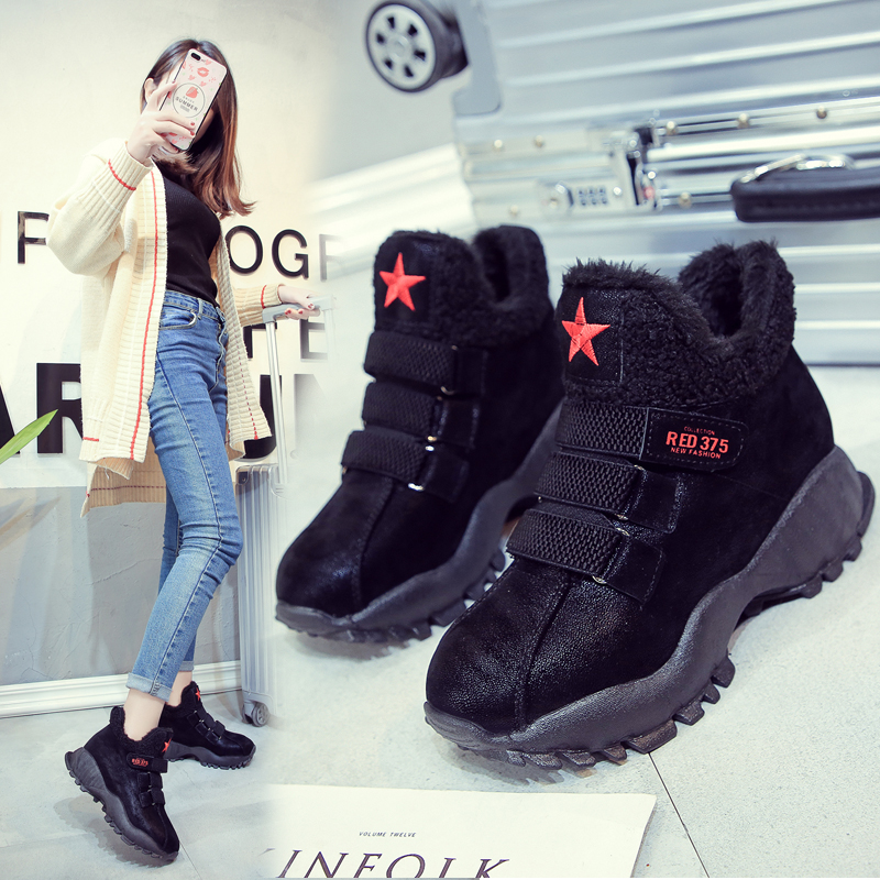 Classic Women Winter Boots Suede Ankle Snow Boots Female Warm Fur Plush Insole High Quality Slip on Leather Boots цены онлайн