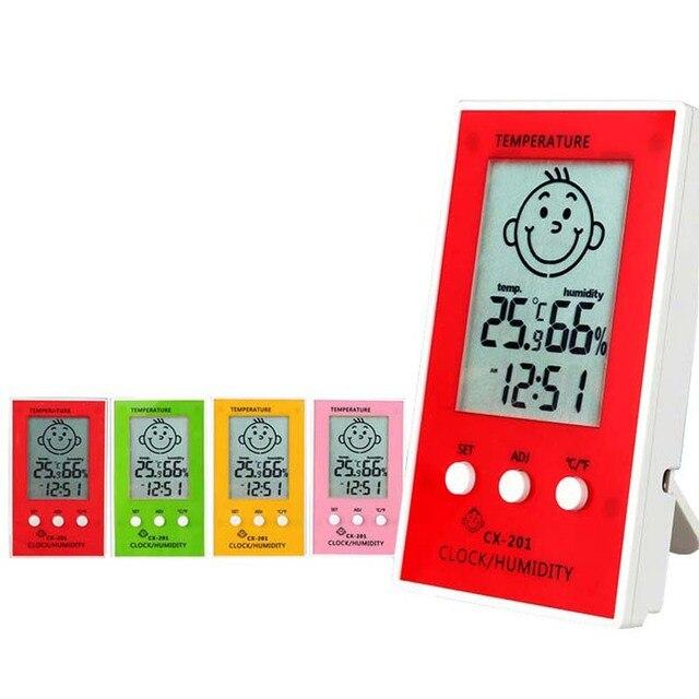 Indoor Outdoor Termometro 1 pz Preciso Igrometro Orologio Digitale Temperatura L