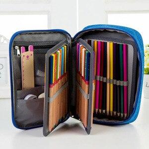 Image 3 - Na płótnie piórniki szkolne dla dziewczyny chłopiec piórnik 72 otwory pudełko na długopis kary wielofunkcyjna torba do przechowywania przypadku Pencill torba hurtownia