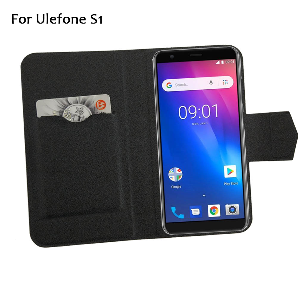 5 Colors Hot! For <font><b>Ulefone</b></font> <font><b>S1</b></font> <font><b>Case</b></font> Phone Leather Cover,Factory Price Protective Full Flip Stand Leather Phone Shell <font><b>Cases</b></font> image