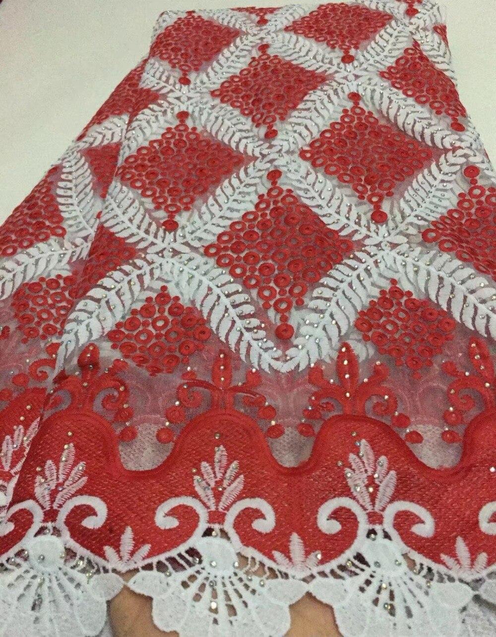 5 cantieri ultime africano lacci 2018 bianco tessuto africano del merletto francese di alta qualità nigeriano tessuti di pizzo per il vestito da sposa EL A3-in Pizzo da Casa e giardino su  Gruppo 3