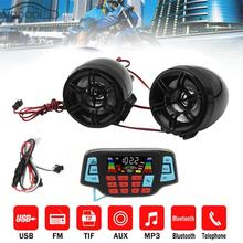 Su geçirmez lcd Ekran Motosiklet MP3 Müzik Çalar Moto USB TF Kart Bluetooth Handsfree Hoparlörler FM Radyo Stereo Ses Sistemi