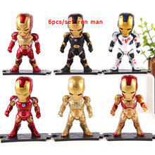 6/7/8 pcs/set Action Figure Avengers Marvel Legends Iron Man Thanos Hulkbuster Tree Man PVC Action Figure Toy Collection Model все цены