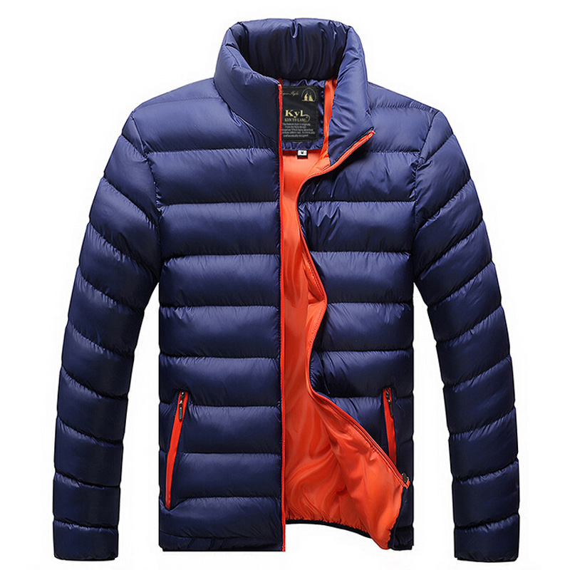 Men casual warm Jackets solid thin breathable Winter Jacket Mens ...
