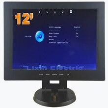 2016 Nueva 12 pulgadas 1024*768 Pantalla de Alta resolución Full Hd Profesional Pequeño Vga Dvi Hdmi Ordenador LED Monitor