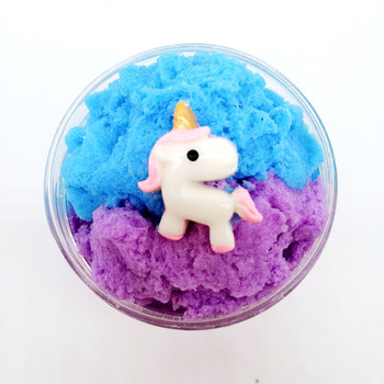 60ML Cute Unicorn Cloud Slime Toys Ice Cream Cotton Fluffy Clay Snow Mud Lizun DIY Polymer slime kit for Kids Gifts