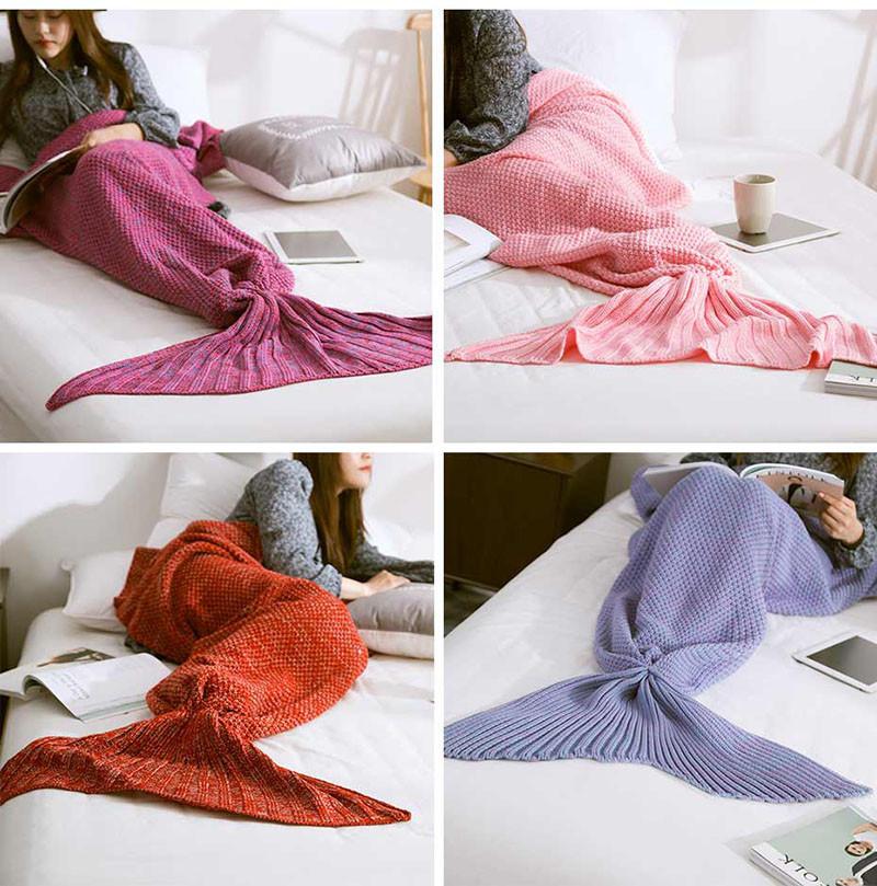 HTB1rg1NOXXXXXX9apXXq6xXFXXXe - Mermaid Blanket Handmade Knitted Sleeping Wrap PTC 70