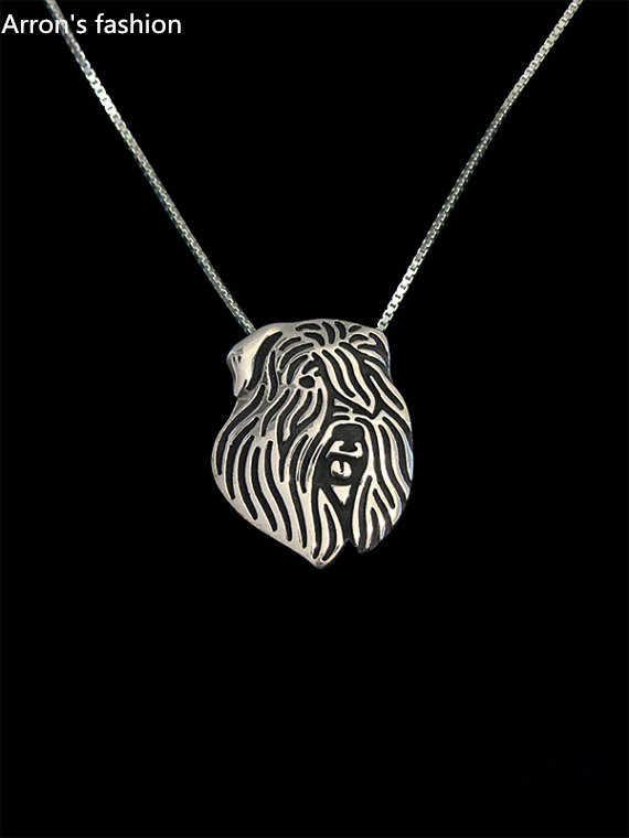 Trendy Bouvier des Flandres pendant necklace women gold silver dog jewelry statement necklace men cs go online shopping india