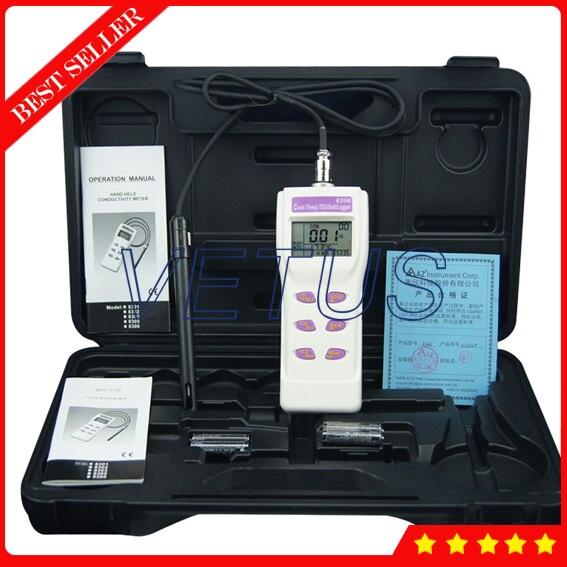 AZ8306 Multi display Portable Conductivity Meter with digital Salt TDS Tester Salinometer Temperature Gauge