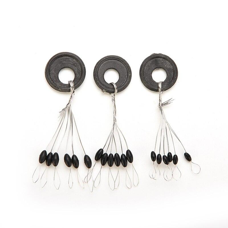 100pcs Black Space Beans Floating Seat Fishing Pin Fishing