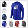 Cheap New York Rangers  Long Sleeve T Shirts Big&Tall Logo Fashion Rangers  Tees Shirt Cotton O-Neck T-shirt