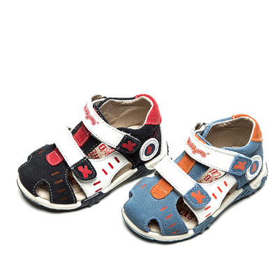 Summer 1pair boy Genuine Leather Children Sandals Orthopedic,Super Quality Kids Summer Shoes