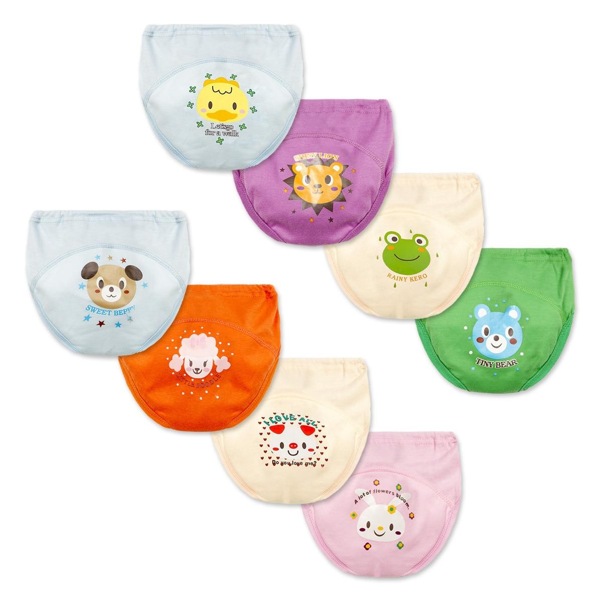 Infant Diaper Panties Training Underwear Toddler Boys Girl Cartoon Waterproof Baby Panties New Born Cotton Briefs Boys Underwear