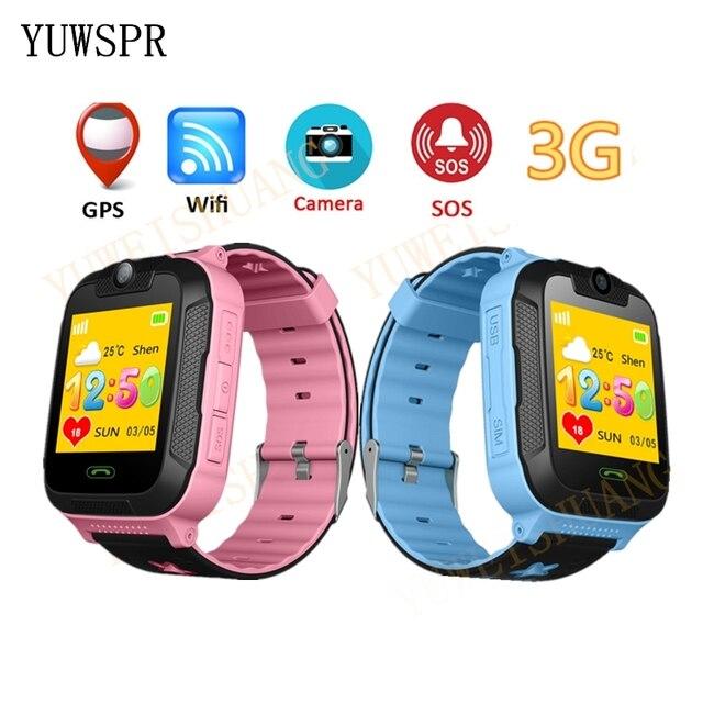 new kids watch GPS tracker 3G Network 1.4 inch touch Screen Camera SOS Call Loca