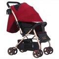 Choque Bora two-way luz carrinho de bebê carrinho do bebê carrinho de bebé carrinho de bb buggiest