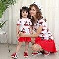 2017 family clothing niños camiseta de algodón de dibujos animados de moda de corea de madre e hija de ropa a juego