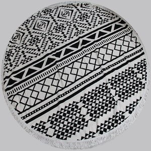 150cm round beach towels bohemia style Microfiber Fabric with tassel to be Sunbath Covers baby blanket serviette de plage ronde